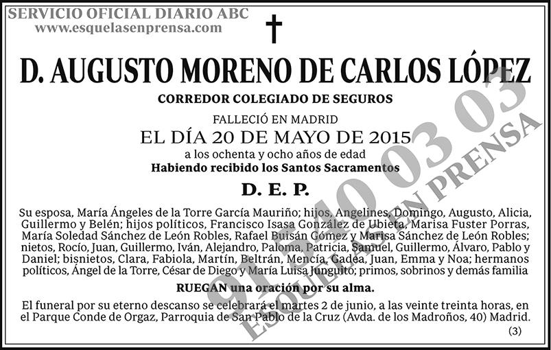Augusto Moreno de Carlos López